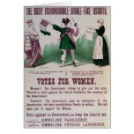 Women's Suffrage Poster Card