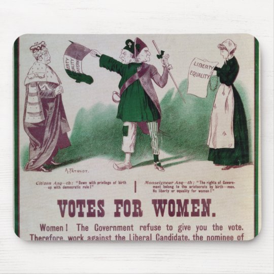 Women's Suffrage Poster Mouse Pad