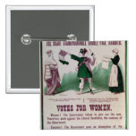 Women's Suffrage Poster Pinback Button