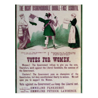 Women's Suffrage Poster Postcard