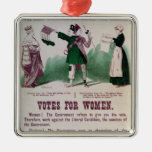 Women's Suffrage Poster Square Metal Christmas Ornament