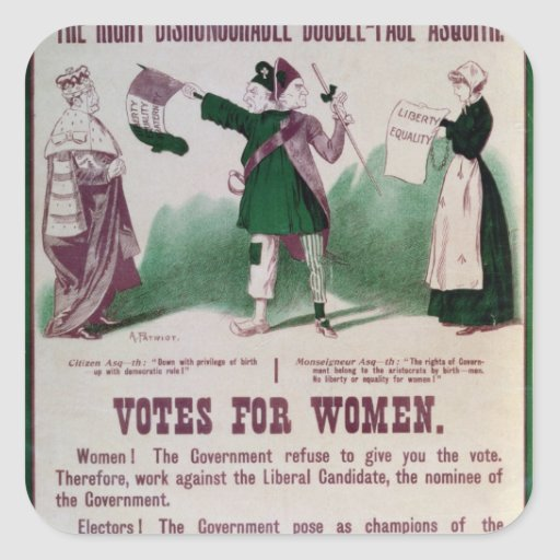 Women's Suffrage Poster Square Sticker