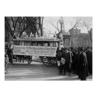 Women's Suffrage Rally, 1919 Poster