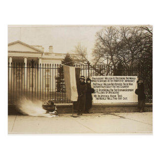Women's Suffragette Bonfire in Washington D.C. Postcard