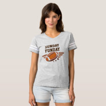 Women's Sunday Funday Vintage Football Sports Tee