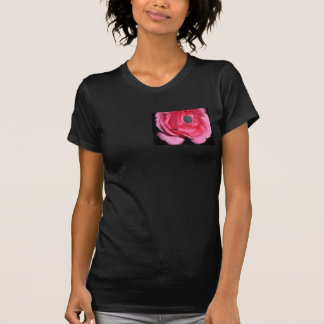 Women's Surreal Rose, Guitar like a gun Tee Shirt