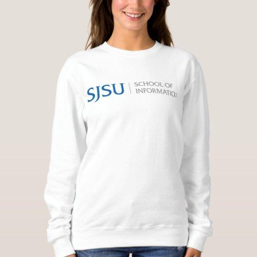 Womens Sweatshirt _ BlueGray iSchool Logo