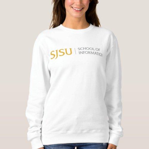 Womens Sweatshirt _ GoldGray iSchool Logo