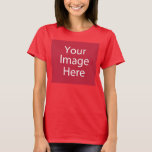 "Women&#39;s T-Shirt<br><div class=""desc"">Customize your own womens t-shirt on Zazzle.com! Use the Customize design tool to upload &amp; insert your own artwork, design, or photo to make a unique womens t-shirt. Experiment and add text using various fonts &amp; view a preview of your design! Zazzle&#39;s easy to customize womens t-shirt has no minimum...</div>"