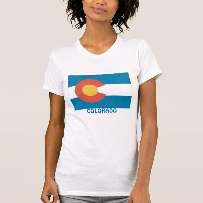 Women's T-Shirt, Colorado State Flag T-Shirt