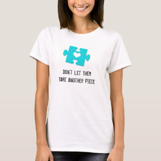 Women's T-Shirt Make-Up Free Week Puzzle Piece