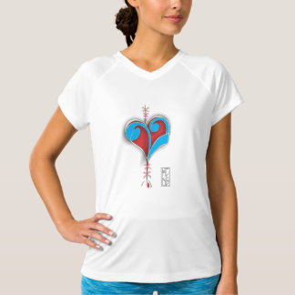 Womens T - Shirt V-neck C 'Music heals my Soul'