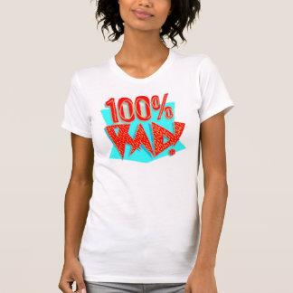 Women's T-Shirt, White, 100% RAD! Cool Retro T Shirt