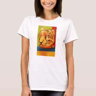 Women's T-Shirt with Bright Tiger Design
