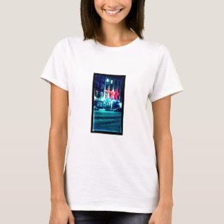 Womens' T-Shirt with City Street Scene Photo
