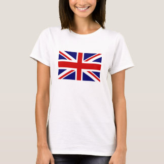 Women's T Shirts with British Union Jack flag