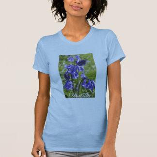 Womens Tee bluebell flowers