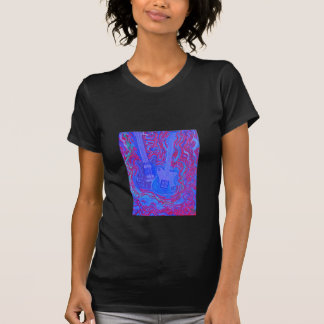 Women's tee-Moody Blue & Red Guitar Vibrations