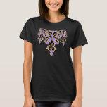 women's tee purple and black knotwork