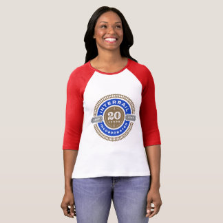 Women's Tee with 20 Year Commemorative Logo