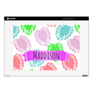 Women's Teen Girls Personalized Pastel Tropical Decals For Laptops