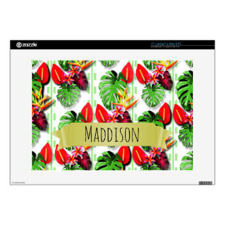 "Women's Teen Girls Personalized Tropical Leaf Skins For 15"" Laptops"