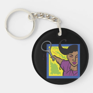 Womens Tennis 3.png Keychain