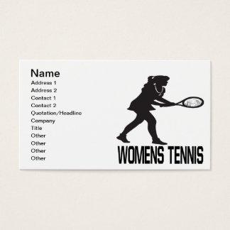 Womens Tennis Business Card