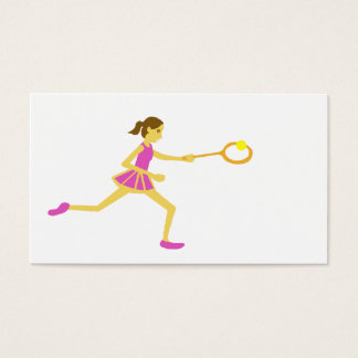 Women's tennis business card