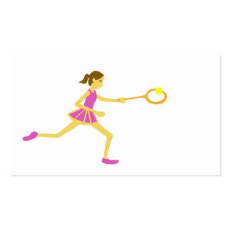 Women's tennis business card template