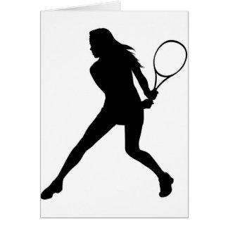 Women's Tennis Card