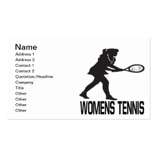 Womens Tennis Double-Sided Standard Business Cards (Pack Of 100)