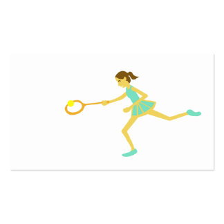 Women's tennis Double-Sided standard business cards (Pack of 100)