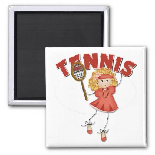 Women's Tennis Gift 2 Inch Square Magnet