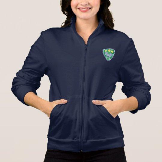 Womens tennis jacket with elegant emblem