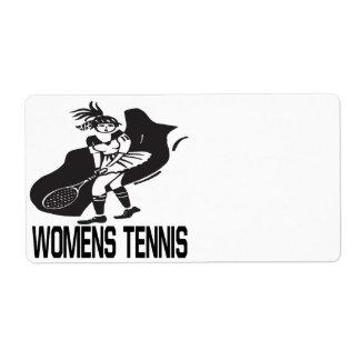 Womens Tennis Label