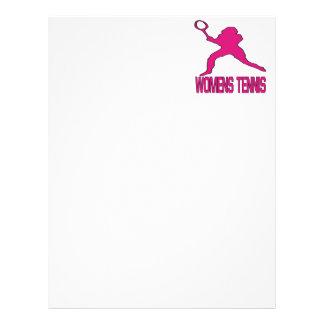 Womens Tennis Letterhead