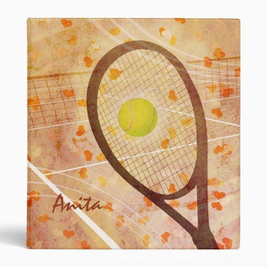 Women's Tennis Love Binder
