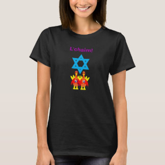 Womens Thanksgivukkah Funny Turkeys Tshirt