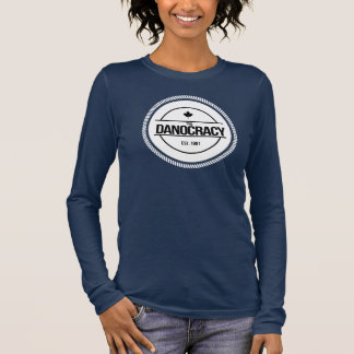 Womens TheDanocracy American Apperal Crew neck Long Sleeve T-Shirt