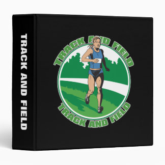 Women's Track and Field 3 Ring Binder