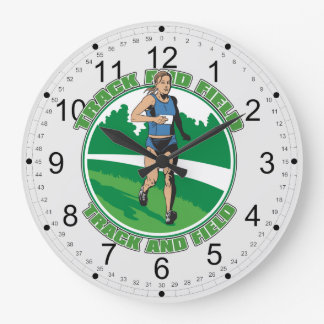 Women's Track and Field Large Clock