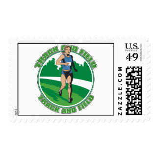 Women's Track and Field Postage