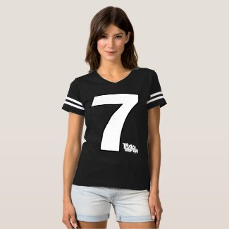 Women's Track Seven Band Football Jersey Shirt
