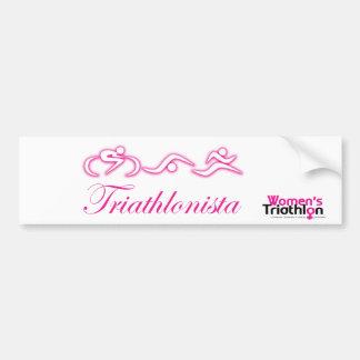 Women's Tri: Triathlonista Bumper Sticker