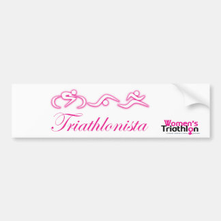 Women's Tri: Triathlonista Car Bumper Sticker