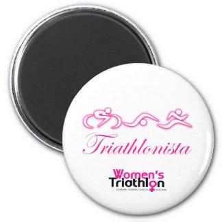 Women's Tri: Triathlonista 2 Inch Round Magnet