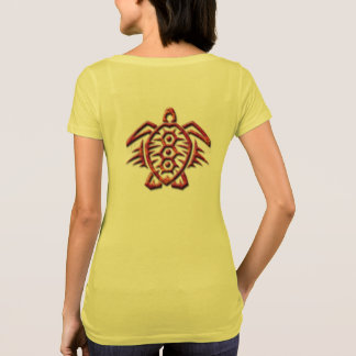 Womens tribal turtle shirt design
