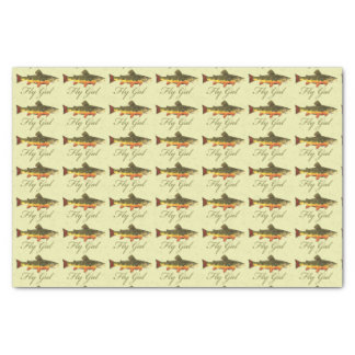 "Women's Trout Fishing 10"" X 15"" Tissue Paper"