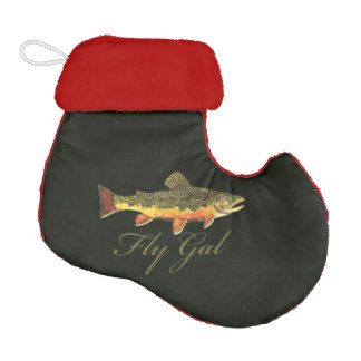 Women's Trout Fishing Elf Christmas Stocking